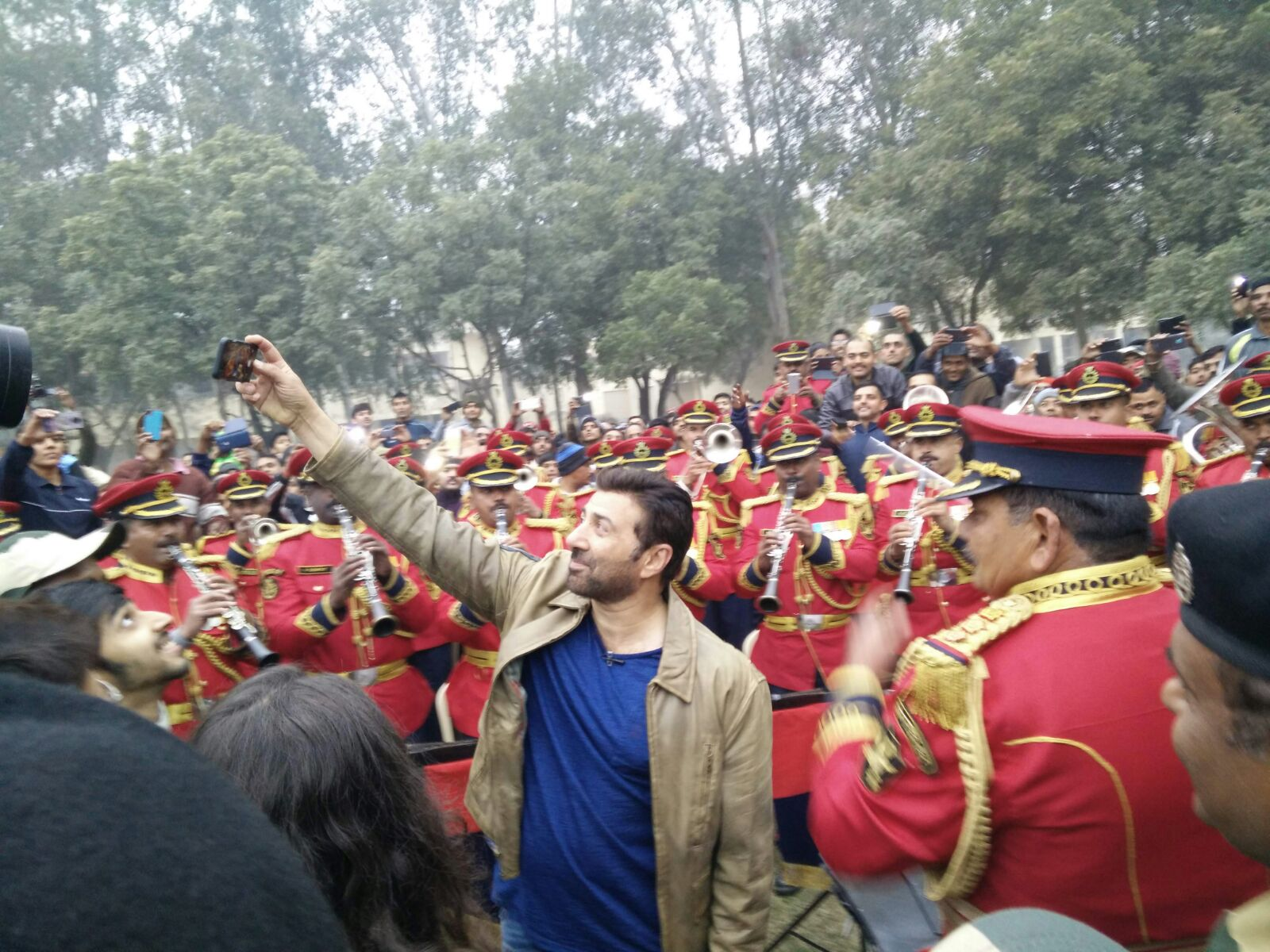 Sunny Deol at BSF Camp 3