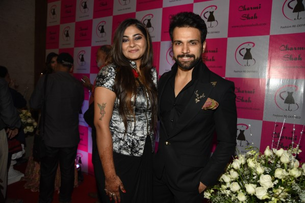 Designer Charmi Shah and Ritwik Dhanjani