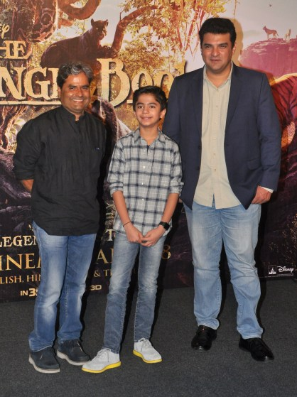 Vishal Bharadwaj, Neel Sethi and Siddharth Roy Kapoor