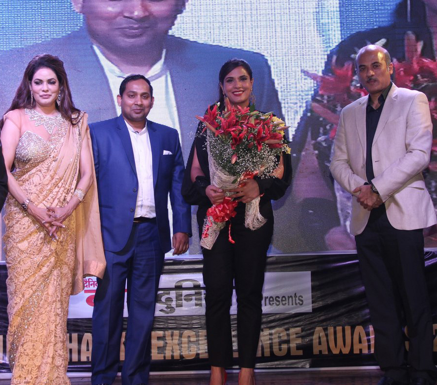 Poonam Jhawer, Richa Chadda With Sooraj Barjatya