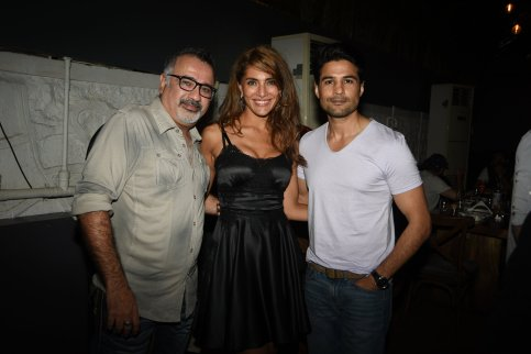 Ajay Chabbria, Caterina Murino, Rajeev Khandelwal at the Fever party