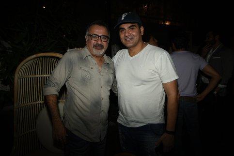 Ajay Chabbria with Arbaaz Khan at the Fever party