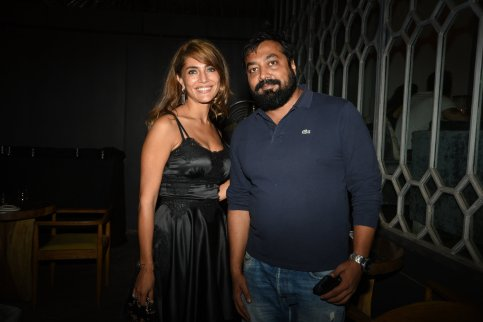 Caterina Murino and Anurag Kashyap at the Fever party