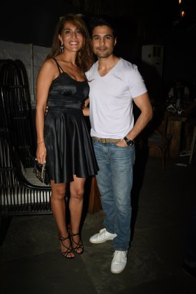 Caterina Murino and Rajeev Khandelwal at the Fever party (2)