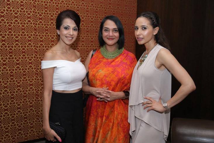 Ramneek Pental , Designer Poonam Bhagat and Designer Mandira Wirk
