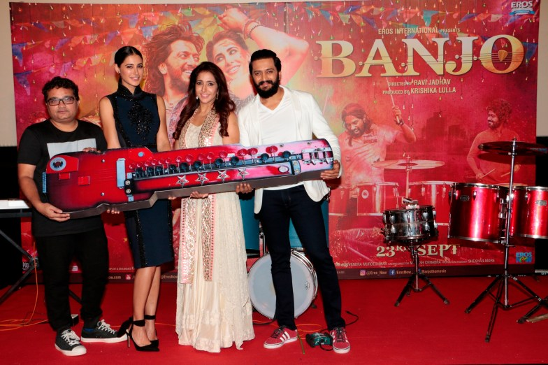 Director Ravi Jadhav, Nargis Fakhri, Producer Krishika Lulla and Riteish Deshmukh