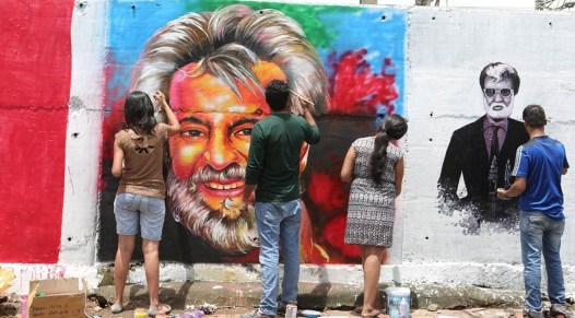 Rajinikanth graffiti 4