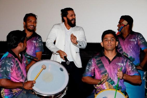 Riteish Deshmukh enjoying the performance of the live Banjo band during trailer launch of Banjo