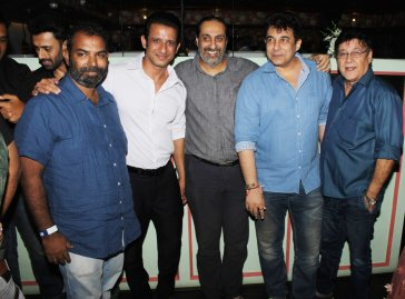 Sharman Joshi, Editor Ballu Saluja, Deepak Tijori and producer Surendra Bhatia