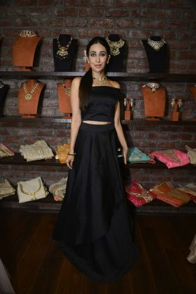 03 Karishma Kapoor @ Amy Billimoria House of Designer & Zevadhi Jewels Festive Collection launch soiree
