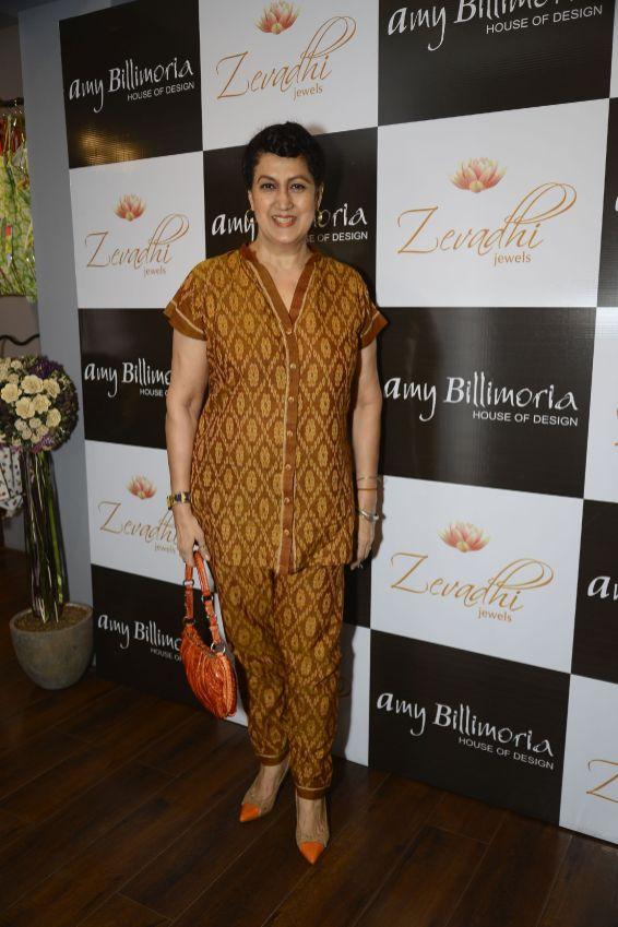 10 Nazneen Bedi @ Amy Billimoria House of Designer & Zevadhi Jewels Festive Collection launch soiree