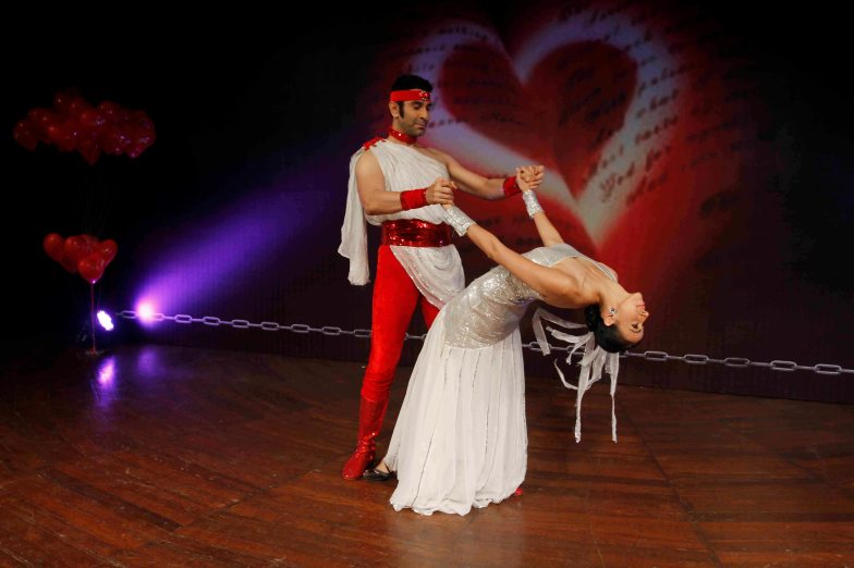 Bollywood choreographer Sandip Soparrkar and Models Alesia Raut