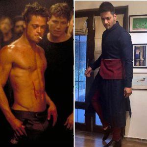 Ali Fazal and Brad Pitt