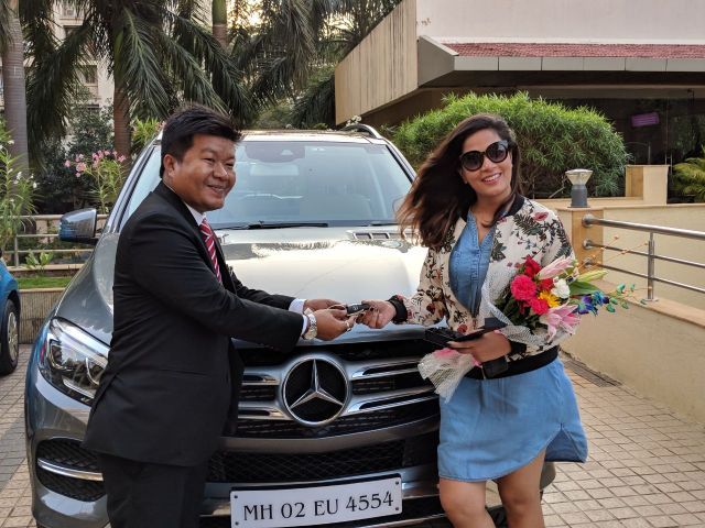 Richa with her new ride