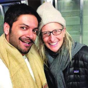 Ali Fazal with Annie Lebowitz