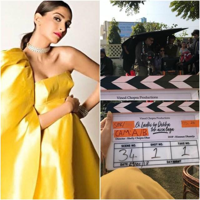 Sonam Kapoor begins shooting for Ek Ladki Ko Dekha Toh Aisa Laga