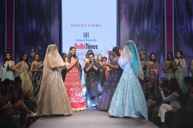 Suneet Varma presented his latest corture collection at Delhi Times Fashion Week