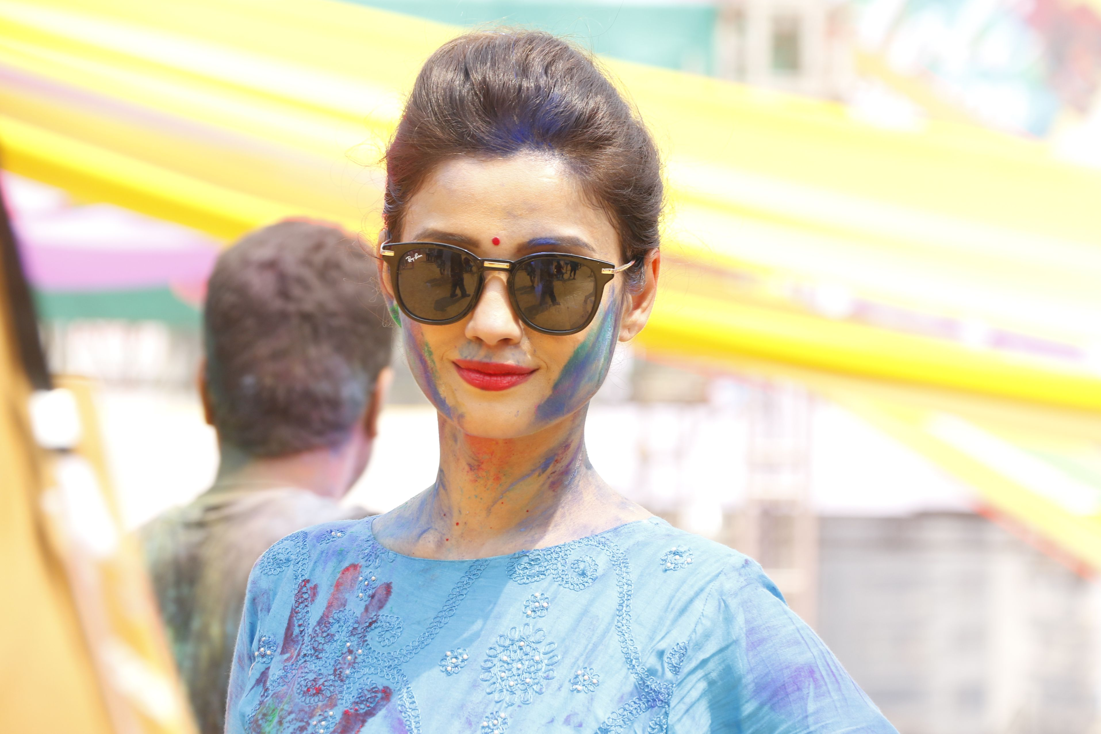 Adaa Khan @ Holi Invasion