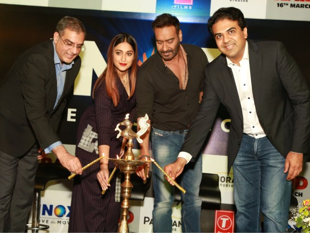 Ajay Devgn and Illeana D'Cruz at Inox Launch in Delhi