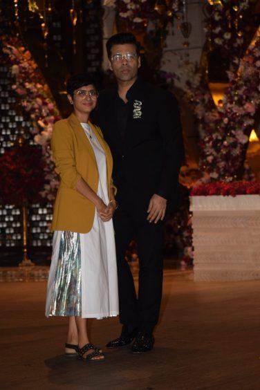 Karan Johar and Kiran Rao at Akash Ambani And Shloka Mehta Engagement party