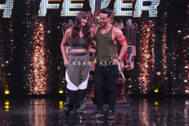 Tiger Shroff and Disha Patani on sets of High Fever 3