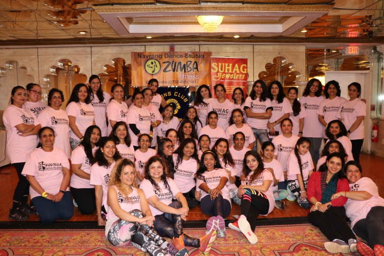 Varsha Naik lead a dance fitness event to support Breast Cancer Research program