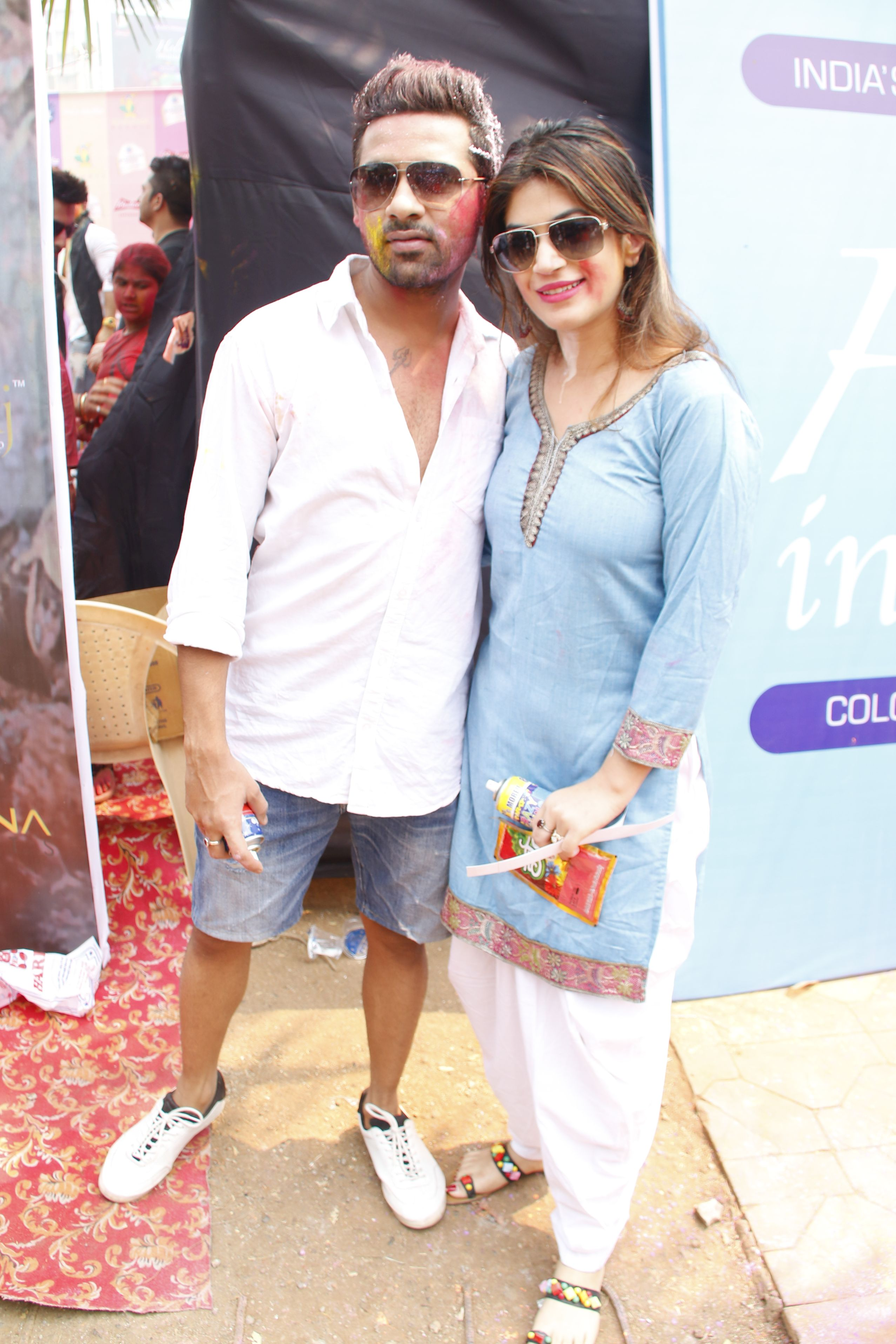puneesh and bandagi @ Holi Invasion
