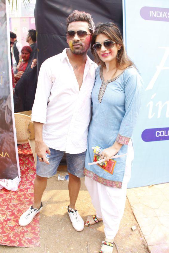 puneesh and bandagi @ Holi Invasion
