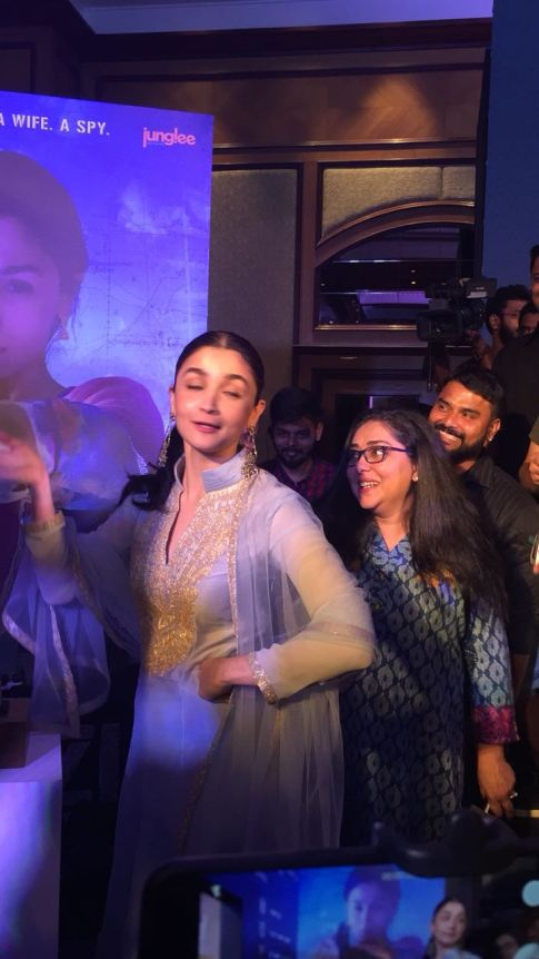 Raazi's Ae Watan song launch with Alia Bhatt, Meghna Gulzar and Vicky Kaushal (2)