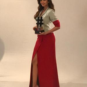 Shilpa Shetty Kundra won the Inspirational Celebrity of the Year at the Outlook Social Media Awards