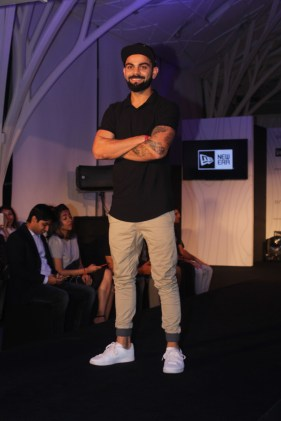 Virat Kohli at the launch of his headgear collection (1)