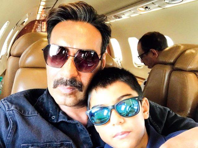 Ajay Devgn With son Yug