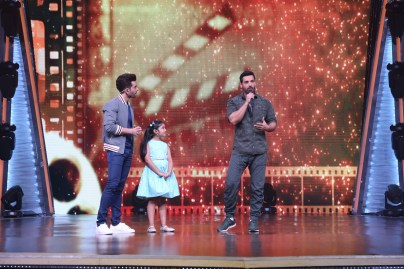 John Abraham for the promotion of Parmanu at the sets of DID Li'l Masters 02