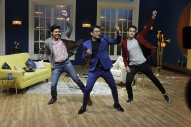 Rajeev Khandelwal, Eijaz Khan and Iqbal Khan shake a leg on sets of JuzzBaatt 2