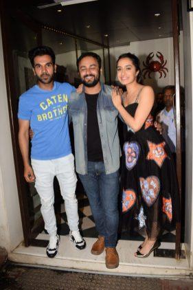 Shraddha Kapoor and Rajkummar Rao at Stree wrap up party