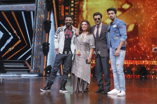 Anil Kapoor along with Farah Khan Remo D'souza and Saqeeb salim at the sets of DID Li'l Masters