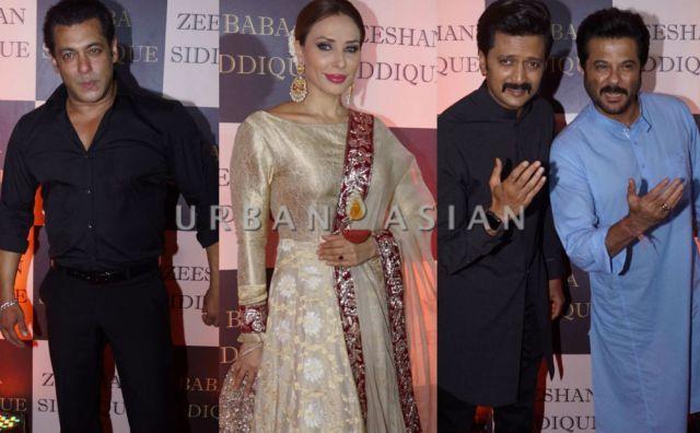 Salman Khan, Iulia Vantur, Riteish Deshmukh and Anil Kapoor at Baba Siddique Iftar Party 2018