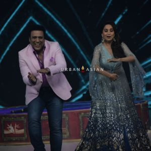 Govinda and Madhuri Dixit on the set sof Dance Deewane