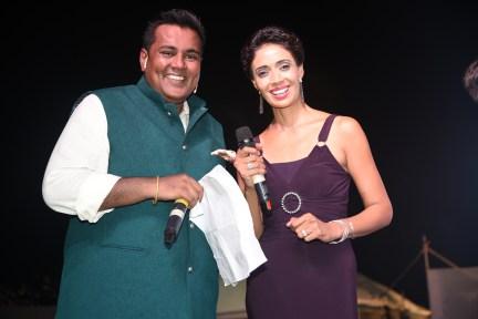 Meraj Husain and Ruby at Bhamla Foundation's World Environment Day celebrations at Carter Road