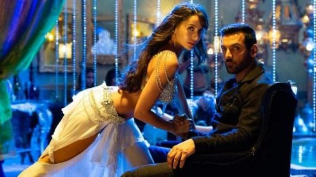 Nora Fatehi and John Abraham in a still from the song