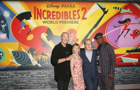 Samuel L. Jackson, Brad Bird, Holly Hunter and Craig T. Nelson