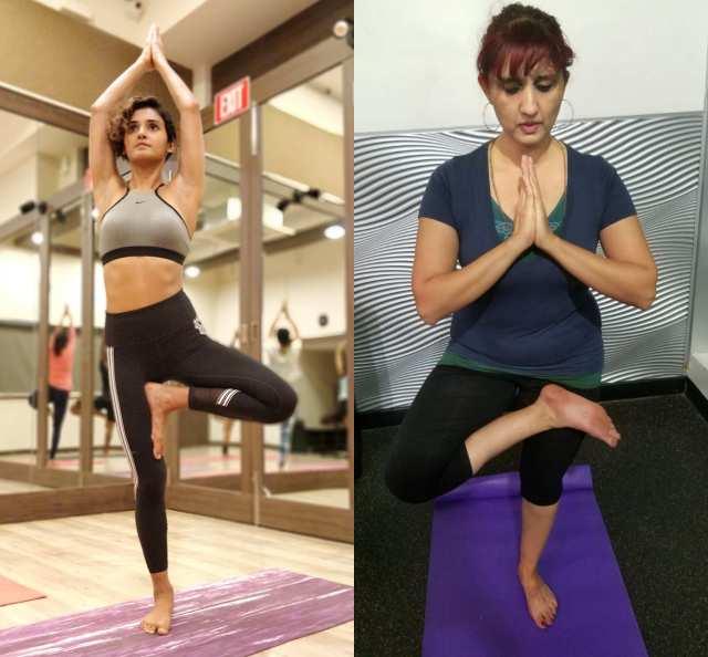 Shakti Mohan And Jyoti Singh on International Yoga Day