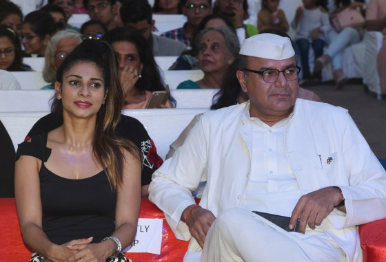 Tanisha Mukherjee and Ashok Kapoor at Bhamla Foundation's World Environment Day celebrations