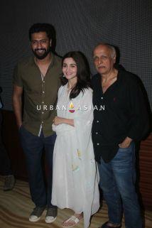 Vicky Kaushal, Alia Bhatt and Mahesh Bhatt