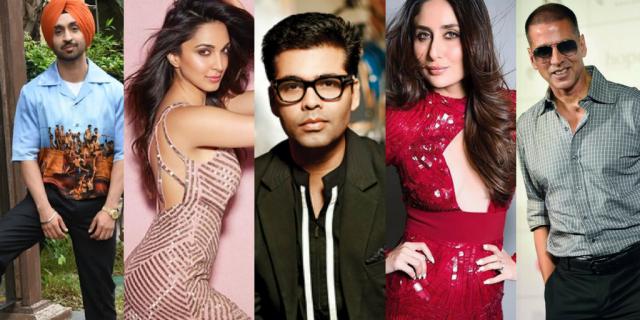 Diljit, Kiara, Karan, Kareena, Akshay