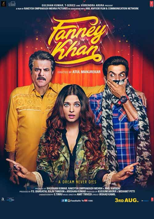 Rajkummar Rao on the poster of Fanney Khan