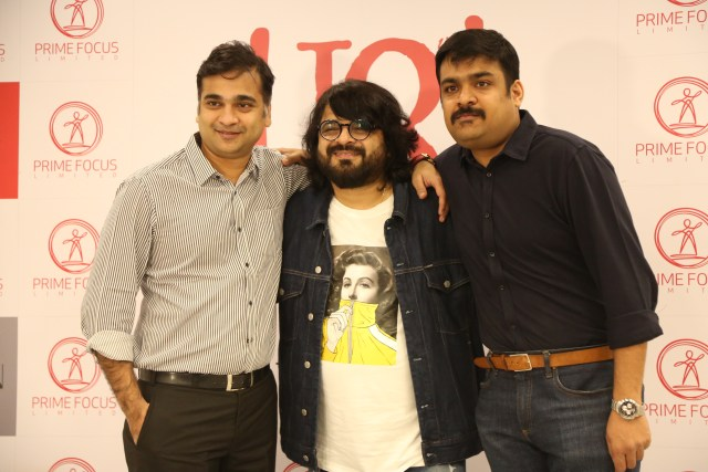 Niraj Sanghai, Business Head at Prime Focus, Pritam Chakraborty, Founder of Jam8 and music composer-director, Vijay Subramanium, CEO at Kwan