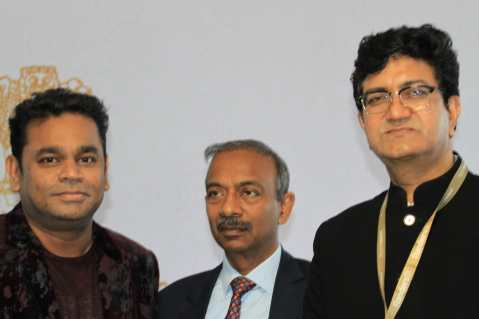 A R Rahman, Prasoon Joshi at the India Pavilion inauguration at Cannes