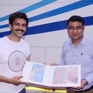 Kartik Aaryan on postal stamps