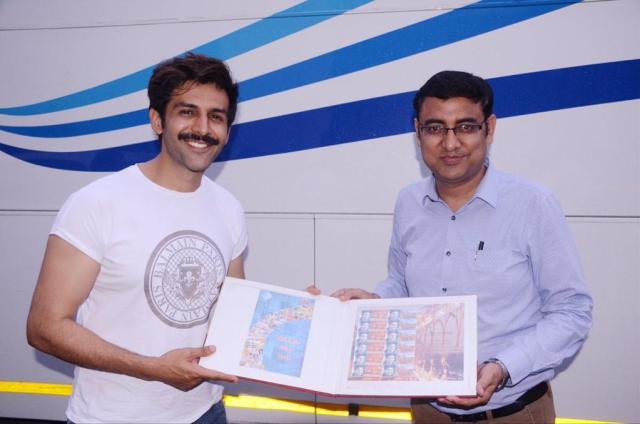 Kartik Aaryan on postal stamps